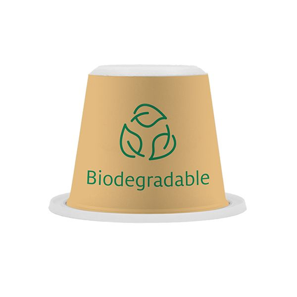 Biodegradable coffee capsules tüf certified