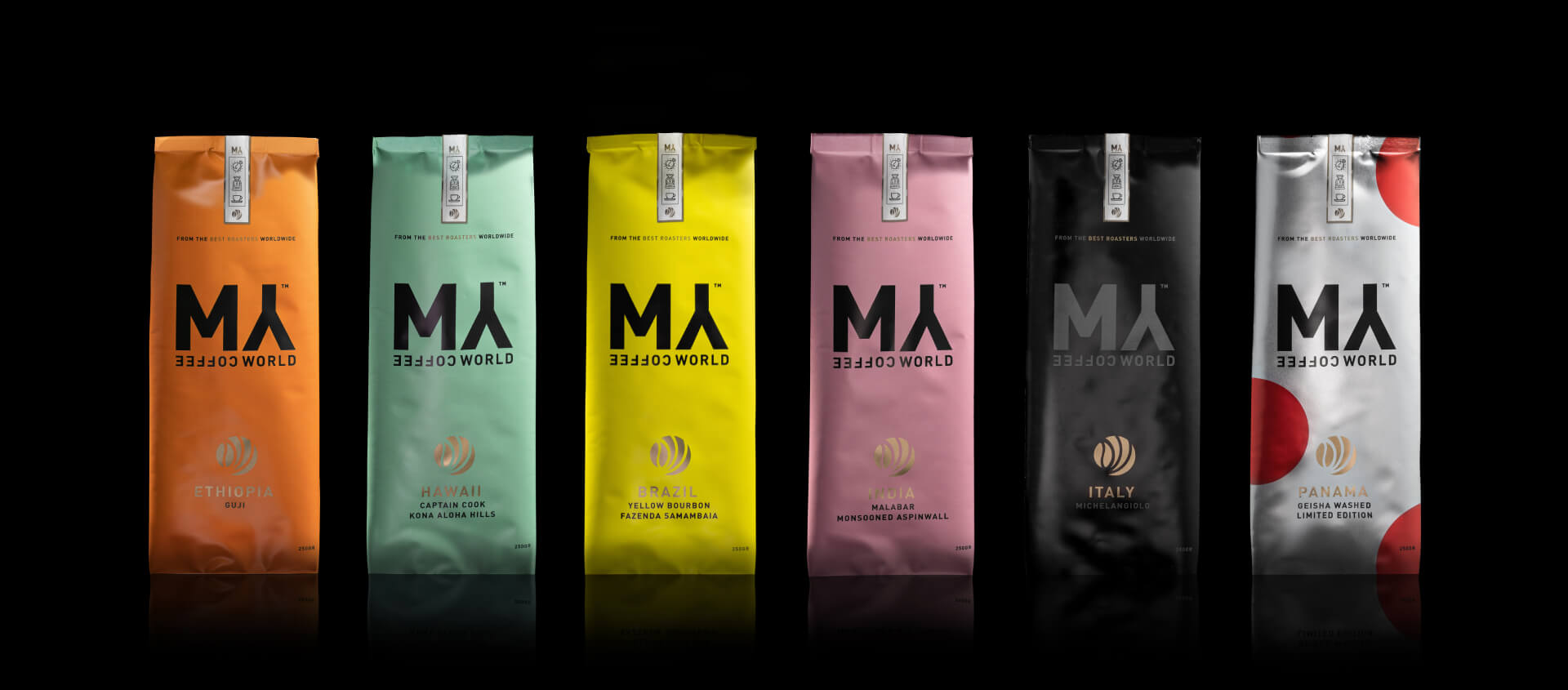 specialty coffee selection from mycoffeeworld shop